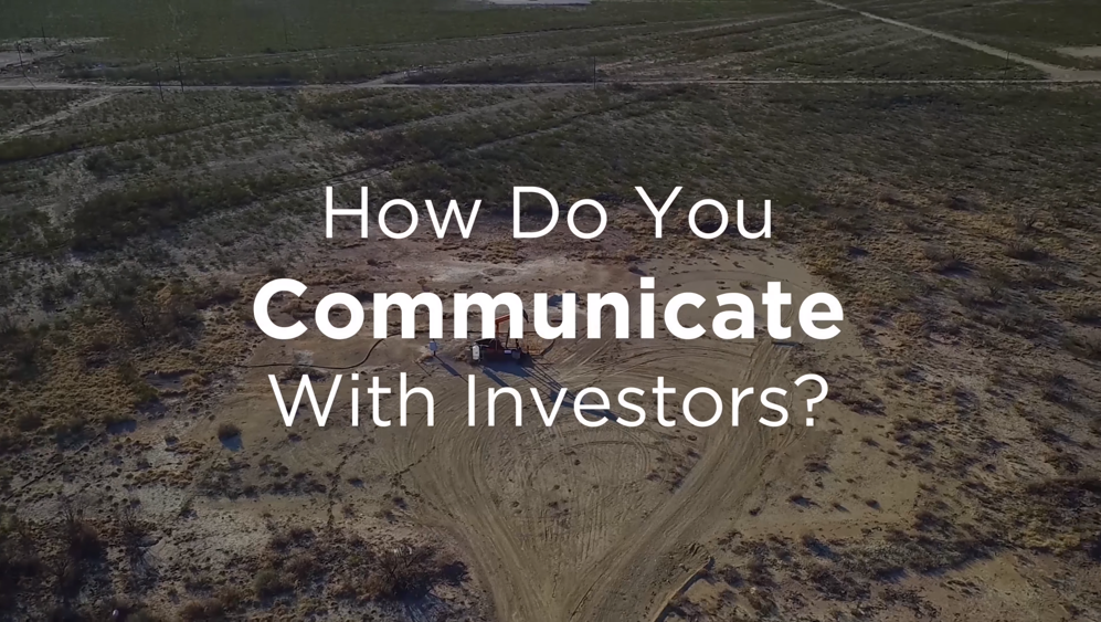 How do you communicate with investors